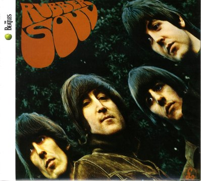 "Album cover of The Beatles' ""Rubber Soul"""
